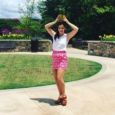Do a little dance in our Pineapple Callie skirt! #Carolinedawn #summer #madeinthesouth