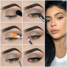 Here we have compiled simple eye makeup tips pictures. They can help you become an eye makeup expert. Here we have compiled simple eye makeup tips pictures. They can help you become an eye makeup expert. Dark Eye Makeup, Makeup Eye Looks, Eye Makeup Steps, Simple Eye Makeup, Eyeshadow Makeup, Kylie Jenner Makeup Tutorial, Kylie Makeup, Kylie Jenner Makeup Step By Step, Makeup Pictorial
