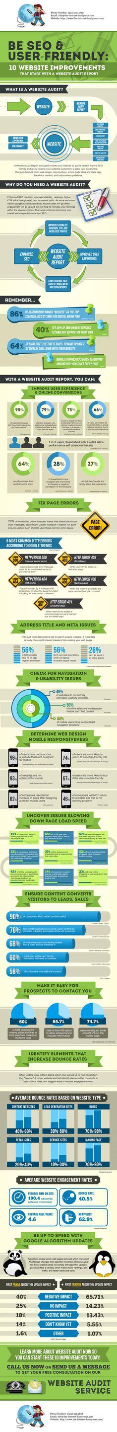 The-Internet-Handyman Website Audit Infographic