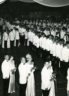 Couples are presented at the 1966 Ring Dance.