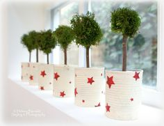 love these recycled tins with red stars... maybe next years xmas craft project :) The Swenglish Home
