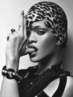 Rihanna (born Robyn Rihanna Fenty - 1988) - Barbadian recording artist, actress, and fashion designer. Photography by Steven Klein