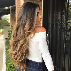 17 Stunning Dark Brown Hair with Blonde Highlights Examples) - Style My Hairs Beautiful Long Hair, Gorgeous Hair, House Beautiful, Beautiful Beautiful, Hair Color Balayage, Hair Highlights, Bayalage, Loren Grau, Cabelo Ombre Hair