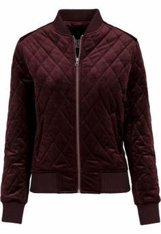 Jacheta pentru femei Diamond Quilt Velvet Ellesse, Jogging, Bordeaux, Short En Jean, Urban, Bomber Jacket, Athletic, Zip, Sewing