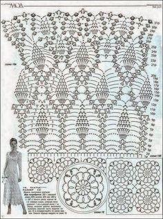 Patrones para tejer al crochet vestido elegante de dama