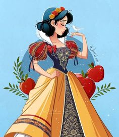 Disney Princess Cartoons, Disney Princess Ariel, Disney Films, Disney And Dreamworks, Disney Characters, Disney Artwork, Disney Fan Art, Disney Drawings, Snow White Art