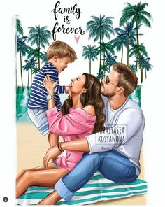 Baby cartoon family art ideas for 2019 Mother Daughter Art, Mother Art, Family Illustration, Illustration Art, Family Drawing, Girly Drawings, Families Are Forever, Baby Cartoon, Cartoon Family