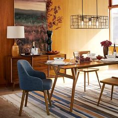west elm Saddle Dining Chairs - as host chairs at table heads