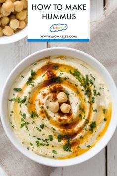 Mediterranean style hummus in less than 5 minutes! Serve you're favorite creamy, savory dip as an appetizer or pack it into lunches for school or the office. Get the hummus recipe and hummus lunch ideas here! Greek Recipes, Real Food Recipes, Healthy Recipes, Family Recipes, Delicious Recipes, Breakfast Cookie Recipe, Baked Lasagna, Easy Lasagna Recipe, Pillsbury Recipes