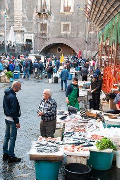 Catania fish market, Sicily. By Mary Mackie