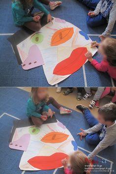 Το πρόσωπο και ο Picasso Picnic Blanket, Outdoor Blanket, Teaching Art, Art School, Human Body, Art Projects, Kids Rugs, Crafts, Decor