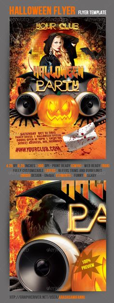 Halloween Party Flyer and Ticket Templates Mytemplatedesigns