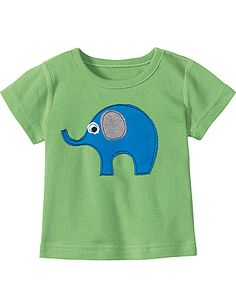 elephant applique tee