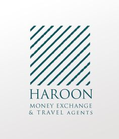 Haroon Travel & Money Exchange Logo design.