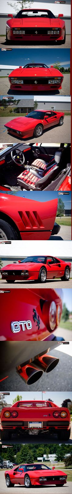 Ferrari 288 GTO made in 1984 following the straight and curved lines period of the late 80's