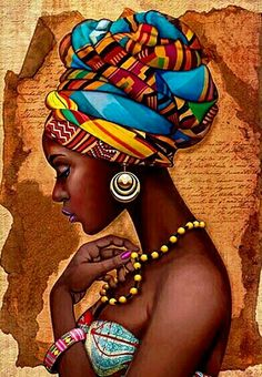 African Art Decor Cross Stitch Pattern - African Art Print - African Decor - Black Women - Embroidery - African Wall Art - PDF File - My Pin Art Black Love, Black Girl Art, Art Girl, African Wall Art, African Art Paintings, African Drawings, African Artwork, African American Artwork, Art Mural Africain