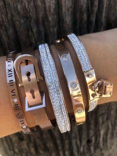 Set fall 2018 bracelets - princess p jewelry Sterling Silver Jewelry, Gold Jewelry, Jewelry Accessories, Jewelry Necklaces, Women Jewelry, Jewelry Design, Silver Ring, Silver Earrings, Fine Jewelry