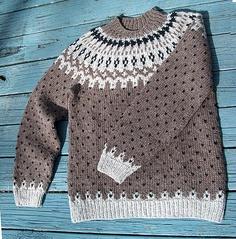 Icelandic Flecks and Diamonds pattern by Claudia Krisniski.