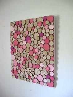 Rustic Modern Wood Slice Painted Pink by RusticModernDesigns, etsy