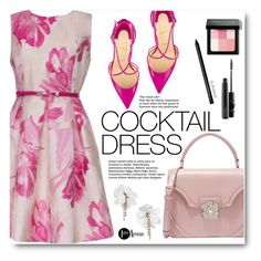 """Cocktail Dress"" by beebeely-look ❤ liked on Polyvore featuring Joseph Ribkoff, Christian Louboutin, Alexander McQueen, Bobbi Brown Cosmetics, MAC Cosmetics, country, floralprint, cocktaildress, StreetChic and premiereavenue"
