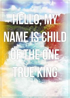 """Hello, My Name Is"" by Matthew West..."
