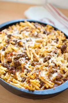 Pasta Med Bacon, Quick Meals To Cook, I Love Food, Good Food, Pork Recipes, Cooking Recipes, Recipies, Minced Meat Recipe, Breakfast Recipes