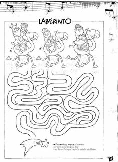 Feast of the Epiphany activity Christmas Maze, Christmas Bible, A Christmas Story, Christmas Colors, Crafts For Boys, Christmas Projects, Christmas Crafts, Les Trois Rois Mages, Christmas Cards Drawing