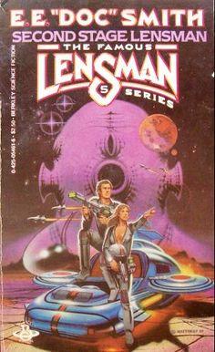 "DAVID BURROUGHS MATTINGLY - art for Second Stage Lensman by E.E. ""doc"" Smith - 1982 Berkley paperback"