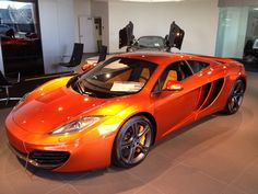 At the McLaren of Newport Beach new dealership checking out the new MP12-14c