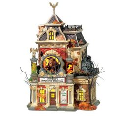 department 56 snow village halloween grimslys house of oddities by department 56 http