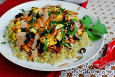 Chicken quinoa black bean salad