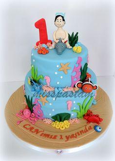 Sea animals birthday cake By Yummy Cake Delights birthday party