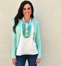 Obsessions Boutique - Sage Snap Button Cardigan, $9.99 (http://www.youreveryobsession.com/products/sage-snap-button-cardigan.html/)