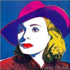 "Andy Warhol Foundation Rare Vintage 1993 Lithograph Print Framed Pop Art Poster "" Ingrid Bergman : With Hat "" 1983 Andy Warhol Pop Art, Andy Warhol Obra, Andy Warhol Portraits, Andy Warhol Museum, Ingrid Bergman, Pop Art Posters, Poster Prints, Art Prints, Jasper Johns"