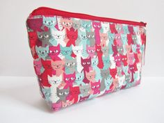 cosmetics bag makeup bag pencil case zippered by LunablueBags