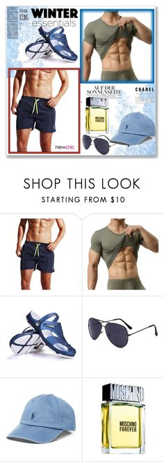 """""""newchic 30"""" by sabinn ❤ liked on Polyvore featuring Polo Ralph Lauren, Moschino, men's fashion and menswear"""