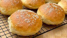 Khorasan Wheat, Kamut Flour, Flour Bakery, Wicked Good, Hamburger Buns, Bun Recipe, Good Burger, Bread Baking, Cooking Recipes
