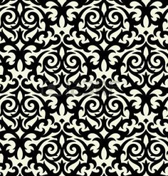 Seamless background from a floral ornament Fashionable modern wallpaper or textile Stock Vector