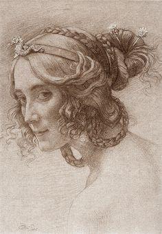 """Armand Point """"Portrait de Madame Berthelot"""" 1895"""