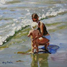 """""""Mother , Mother Ocean""""  oil on board  8x8  By Artist Kay Crain  www.kaycrain.com"""