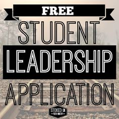 Student Leadership Application for youth ministry