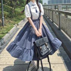 Kawaii Dress, Kawaii Clothes, Cute Fashion, Look Fashion, Fashion Design, Pastel Fashion, Classy Fashion, Fashion Men, Asian Fashion