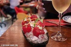 Tickets Bar, Barcelona, Albert Adria, Tapas, Eating, Food, Watermelon infused Sangria