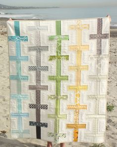 Ombre looking strips quilt by Diary of a Quilter--who has some good tutorials for beginner quilters like me!