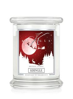 Kringle Candle - KRINGLE Large  2 Wick -This scent fulfils Christmas wishes - anticipation, wonder & Joy. Fragrant green floral & musk, cedar & clove - to create a wonderful merry christmas