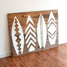 How to make wall art/a headboard with a surfboard theme. The instructions are great!