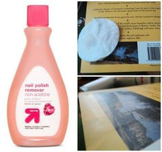 Use nail polish remover to get rid of a hard to remove price sticker.