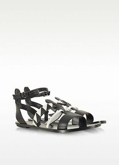 New Arrivals: Proenza Schouler - Two-Tone Leather Flat...