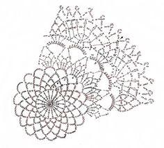 ドイリー : Crochet a little Crochet Doily Diagram, Crochet Mandala, Crochet Chart, Crochet Motif, Crochet Doilies, Crochet Lace, Doily Patterns, Crochet Patterns, Pineapple Crochet