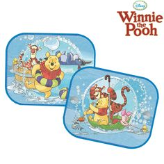2x disney winnie and friends window car sun shades uv blinds children kids baby